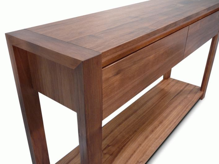 Lumino Tasmanian Blackwood 2 Drawer Hall Table Living