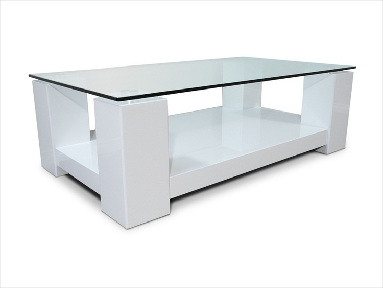 Matrix high gloss white glass coffee table ebay for Coffee tables ebay australia