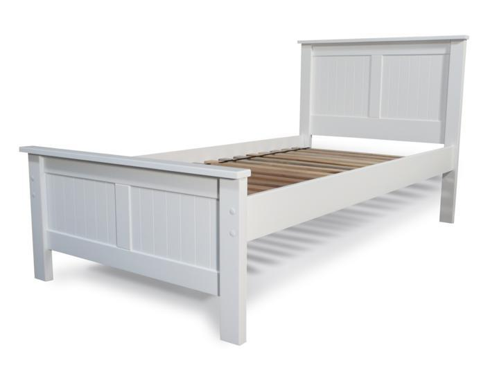 White Single Bed 707 x 530