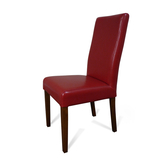 Hamilton Red Leather Dining Chair Blackwood