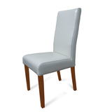 Hamilton Ivory Leather Dining Chair Blackwood