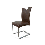Bondi Dining Chair Brown PU