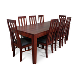 Hamilton Jarrah 2200 Dining Set with Timber Chairs