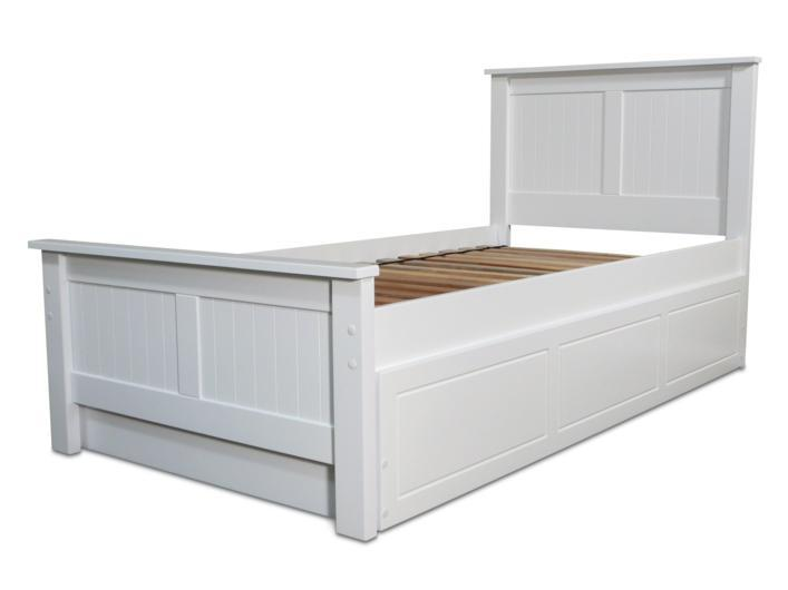 Lilydale White Single Bed And Trundle