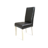Hamilton Chocolate Leather Dining Chair Natural