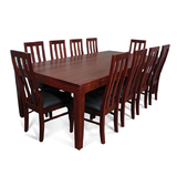 Hamilton Jarrah 2400 Dining Set with Timber Chairs