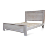 Avalon Whitewash Hardwood Queen Bed