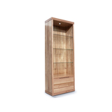 Elwood Tasmanian Oak Medium Bookcase Display Wall Unit