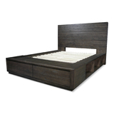 Xavier Recycled Timber King Bed w Storage