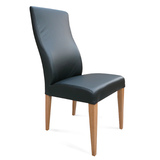 Elwood Black Full Grain Leather Chair Natural