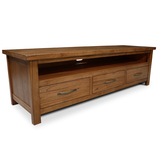 Stonybrook Mountain Ash Hardwood 3 Drawer TV Unit