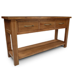 Stonybrook Mountain Ash Hardwood 3 Drawer Hall Sofa Table