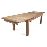 Tasmanian Oak 1500 - 2500 Extension Dining Table