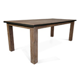 Flynn Modern Industrial 2100 Dining Table Acacia