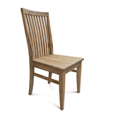 Flynn Modern Industrial Timber Seat Dining Chair