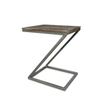 "Rubix Mango Wood with Metal Frame ""Z"" Side Table"