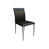 Remo Dining Chair with Black Metal Legs