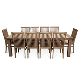 Flynn Modern Industrial 2400 Dining Set