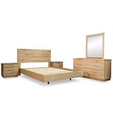 "Aziah ""Floating"" Bed Messmate Dresser Bedroom Package"