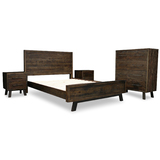 Zeus Scandustrial Recycled Timber KING Tallboy Bedroom Package