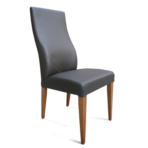 Elwood Chocolate Full Grain Leather Chair Blackwood
