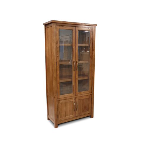 Stonybrook Mountain Ash Hardwood Display Cabinet Bookcase