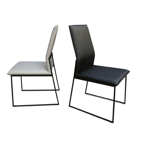 Miraculous Stoke Dining Chair Leather With Black Metal Legs Unemploymentrelief Wooden Chair Designs For Living Room Unemploymentrelieforg